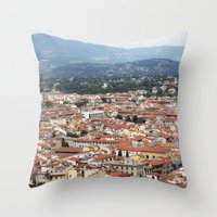 florence Throw Pillows featuring Florence by Anya Kubilus