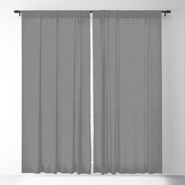 Pantone Pewter Gray Small Honeycomb Pattern Blackout Curtain