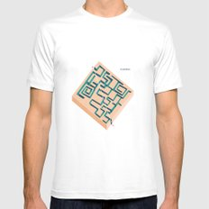 Le Parkour White Mens Fitted Tee MEDIUM