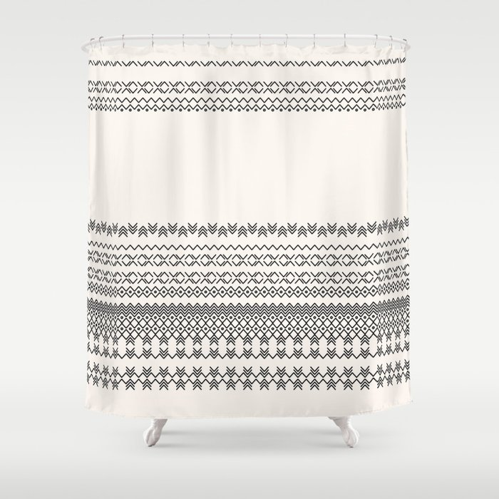 European Traditional Pattern Shower Curtain By Designbymonia