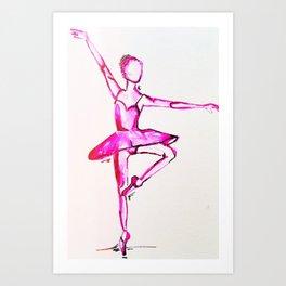 neon dancer Art Print