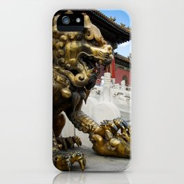 Mother Lion at the Forbidden City. iPhone Case