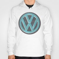 vw bus Hoodies featuring Black Beauty VW Bus by wildVWflower