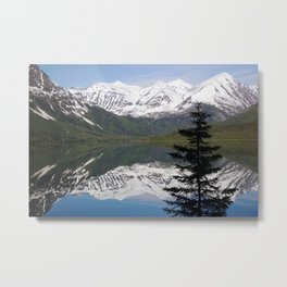 Mountain Reflection with Lone Pine Metal Print