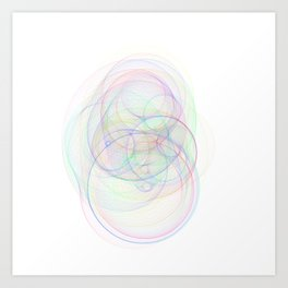 Rainbow Rings 2 Art Print
