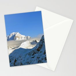 Mont Blanc from Les Arcs French Alps France Stationery Cards
