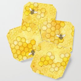 Meant to Bee - Honey Bees Pattern Coaster