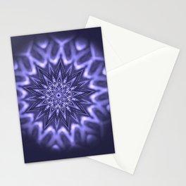 Purple ice Swirl mandala Stationery Cards