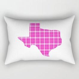 Texas State Shape: Pink Rectangular Pillow