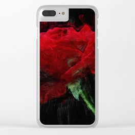 Red Rose Impressionist Painting Clear iPhone Case