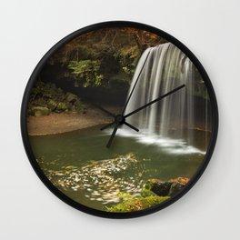 Nabegataki Falls in Japan in autumn Wall Clock