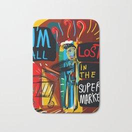 All lost in the supermarket Street art Graffiti Bath Mat