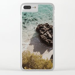 Clear water in a lonely beach Clear iPhone Case