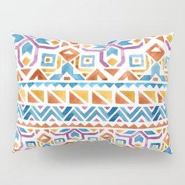 Geometric colorful Watercolor Pattern Pillow Sham