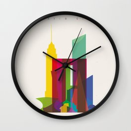 Shapes of Mexico City accurate to scale Wall Clock