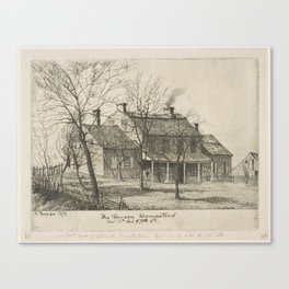 The Harsen Homestead, Corner of 10th Avenue and 70th Street (from Scenes of Old New York), by Henry Canvas Print