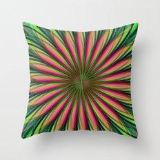 Pink Flower Fractal Throw Pillow