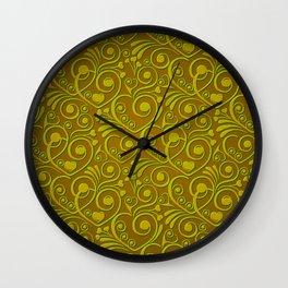 Sweet Hearts, olive Wall Clock