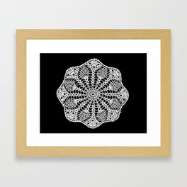 lace round ornament 2 Framed Art Print