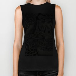 BioTechnological DNA Tree and Abstract Cityscape Biker Tank