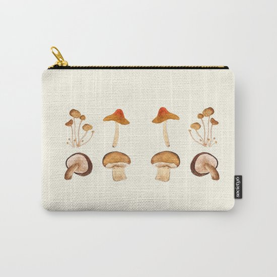 mushroom watercolor painting Carry-All Pouch