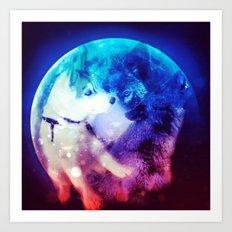 Dog Wolf Pup Art Print