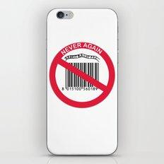 Olocausto Never Again iPhone & iPod Skin