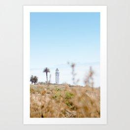 Travel photography Palos Verdes VI Lighthouse Art Print