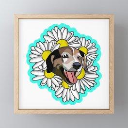 white daisy  Framed Mini Art Print