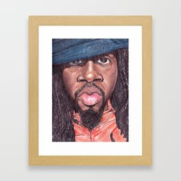 Wyclef Jean The Fugees Framed Art Print