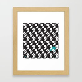 Hypnotised by Vinyl (Blue) Framed Art Print