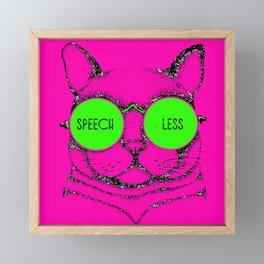 SPEECHLESS cat Framed Mini Art Print