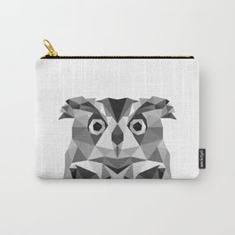 Grey Owl - low poly Carry-All Pouch