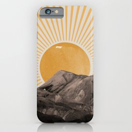 Abstract Landscape, Mountain and Sunshine iPhone Case