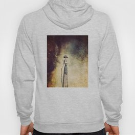 VINTAGE FASHION LADY IN ABSTRACT FOREST Hoody