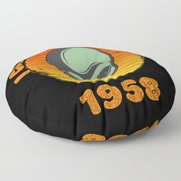 I Came To Earth In 1958 UFO Alien Floor Pillow