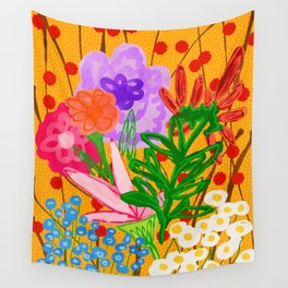 flower bomb Wall Tapestry