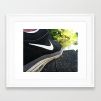 nike Framed Art Prints featuring Nike by sdekkinga