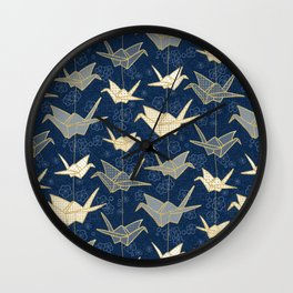 Sadako's Good Luck Cranes Wall Clock