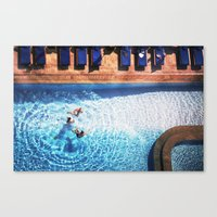 pool Canvas Prints featuring pool by kolya korzh