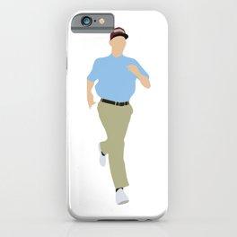 Run Forrest Gump 90s movie iPhone Case