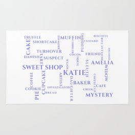 Amish Sweet Shop Mysteries Word Puzzle Rug