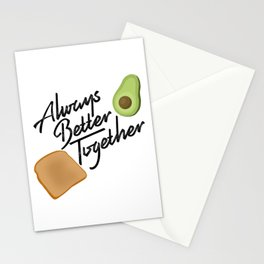 Always Better Together - Avocado Toast Stationery Cards
