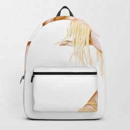 Retro Pin Up Girls Red Hair Grass Skirt Pinup Girl Backpack