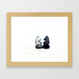 Chess Pieces II Framed Art Print