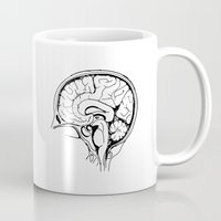 brain Mugs featuring Brain by Etiquette