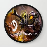 guardians Wall Clocks featuring Halo5 Guardians by store2u