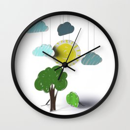 Sunny Day 3D Paper Craft Wall Clock