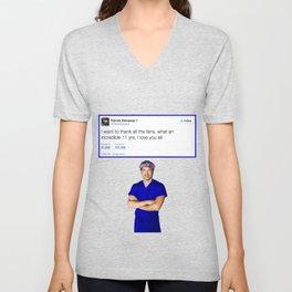 Patrick Dempsey -Goodbye tweet Greys Anatomy Unisex V-Neck
