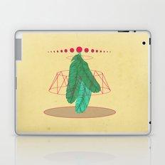 blugreenish circled feathers Laptop & iPad Skin